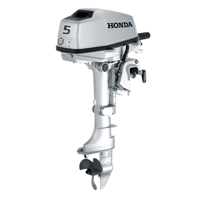 "Honda 5 hp, BF5AK3SA, 4 stroke, 15"", Manual start, Tiller Handle"