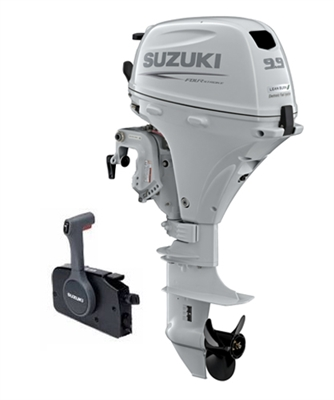 "Suzuki 9.9hp DF9.9BTHX, 4-stroke, 25""  Shaft, Power Tilt Series (High Thrust) - Electric Start - Tiller Handle - EFI"