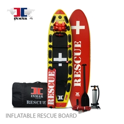 RESCUE INMAR Rescue Board 10' 6'', comes with an oversized carry bag, and a high pressure air pump