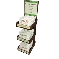 coffeeFit Protein Bars Opening Order Special includes FREE Wooden Display