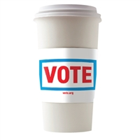 GET OUT YOUR VOTE COFFEE CUP SLEEVES