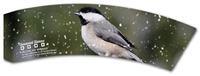SEASONAL WINTER BIRDS COFFEE CUP SLEEVES