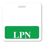 """LPN"" Horizontal Badge Buddies, Green"