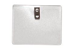 Clear Vinyl Horizontal Badge Holder W/ 2-hole Clip