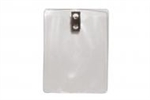 Clear Vinyl Vertical Badge Holder W/ 2-hole Clip