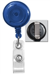 """Value Line"" Round Translucent Badge Reel With Belt Clip - 25/Pkg."