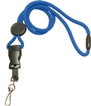 Round Lanyard with Safety Breakaway, Round Slider And Detachable Steel Swivel Hook.