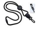 Round Lanyard with Safety Breakaway, Round Slider And Detachable Plastic Swivel Snap Hook