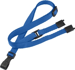 "3/8"" Flat Adjustable Breakaway Lanyard with Slide Adjuster And ""No-Twist"" Wide Plastic Hook. Adjusts From 24"" To 44"" In Length. Fits Everyone From Children To Adults. 36"" Cut Length Prior To Assembly."