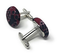 GOOD FORTUNE 100% SILK HANDMADE CUFFLINKS