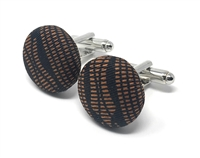 KENTE 100% SILK HANDMADE CUFFLINKS