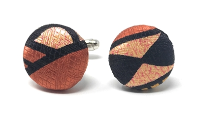 SUNBURST 100% SILK HANDMADE CUFFLINKS