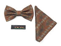 "Aya - ""Endurance"" Tied Bow Tie Set With Hanky"