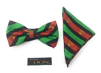 "Sankofa - ""Go Back and Get It"" Bow Tie Set with Matching Hanky"
