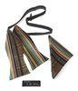 Kente Blue - Adjustable Self-Tie Bow Tie Set With Hanky