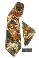Faces Tie Set With Hanky