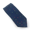 "The Cross ""B"" Blue Silk Neck Tie Set"