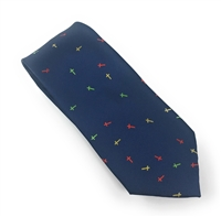 "The Cross ""B"" Blue Silk Neck Tie Set DLT007"