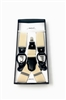 Solid Off White Suspenders DSUP18