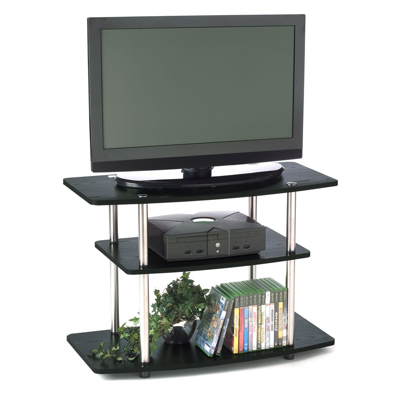 32 inch flat screen tv stand in wood grain finish. Black Bedroom Furniture Sets. Home Design Ideas