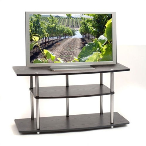 Black 42 inch flat screen tv stand by convenience concepts