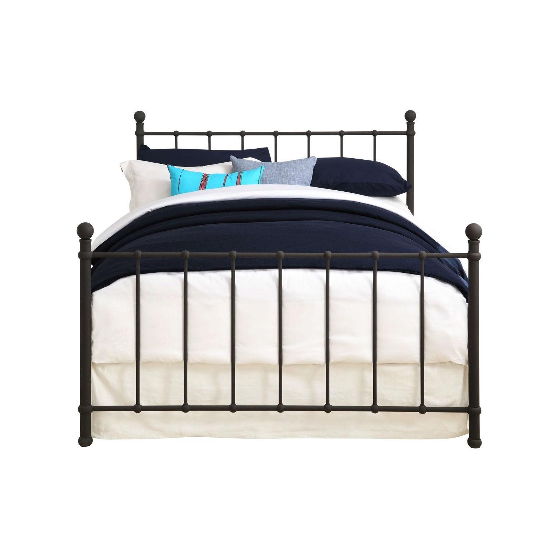 full size dark bronze metal platform bed with headboard and footboard. Black Bedroom Furniture Sets. Home Design Ideas