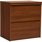2-Drawer Lateral File Cabinet in Contemporary Plum Finish