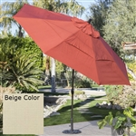 Outdoor Patio 11-Ft Market Umbrella with Push Button Tilt with Beige Shade