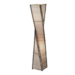 Modern Twist Sculpture Style Floor Lamp Lantern with Beige Shade