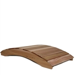 Outdoor 6-Ft Garden Bridge in Red Cedar Wood