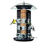 2-in-1 Triple Tube Squirrel Baffle Bird Feeder