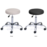 Adjustable Height Vinyl Upholstered Medical Stool