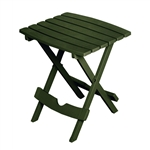 Folding Outdoor Side Table in Earth Brown Durable Plastic Resin