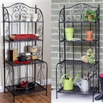 Outdoor / Indoor Durable Metal Bakers Rack Potting Bench Garden Shelving Unit