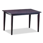 Solid Rubberwood Dining  Table in Dark Brown Stain Veneer Finish
