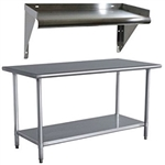Stainless Steel 48 x 24 inch Utility Work Bench Table with Shelf