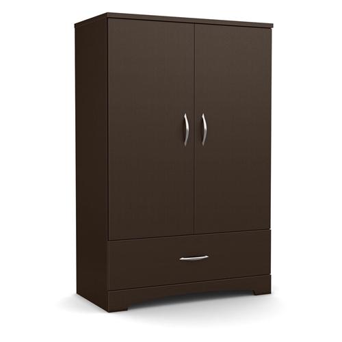 contemporary 2 door armoire wardrobe cabinet with bottom