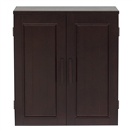 Dark Birch Wood Finish Bathroom Wall Cabinet