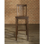 Set of 2 - Solid Hardwood 30-inch Bar Stools in Wood Mahogany Finish