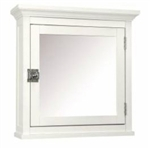 Classic White Bathroom Medicine Cabinet with Mirror