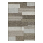 5'x x 7'6 Brown Sand Modern Geometric Stripe Area Rug