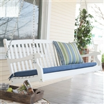 Outdoor Patio Deck 4-Ft Porch Swing in White Wood Finish