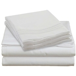 King size 4-piece Silky Soft Microfiber Sheet Set in White