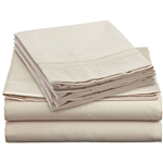 King size 4-Piece Sheet Set in Beige Cream Brushed Microfiber