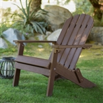 Weather Resistant Adirondack Chair in Chocolate Brown Recycle Plastic Resin