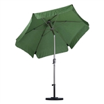Palm Green 7.5-Ft Outdoor Patio Umbrella with Metal Pole in Champagne Finish
