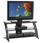 Modern Flat Screen Panel TV Stand in Black