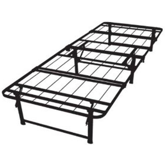 twin xl size steel folding metal platform bed frame. Black Bedroom Furniture Sets. Home Design Ideas