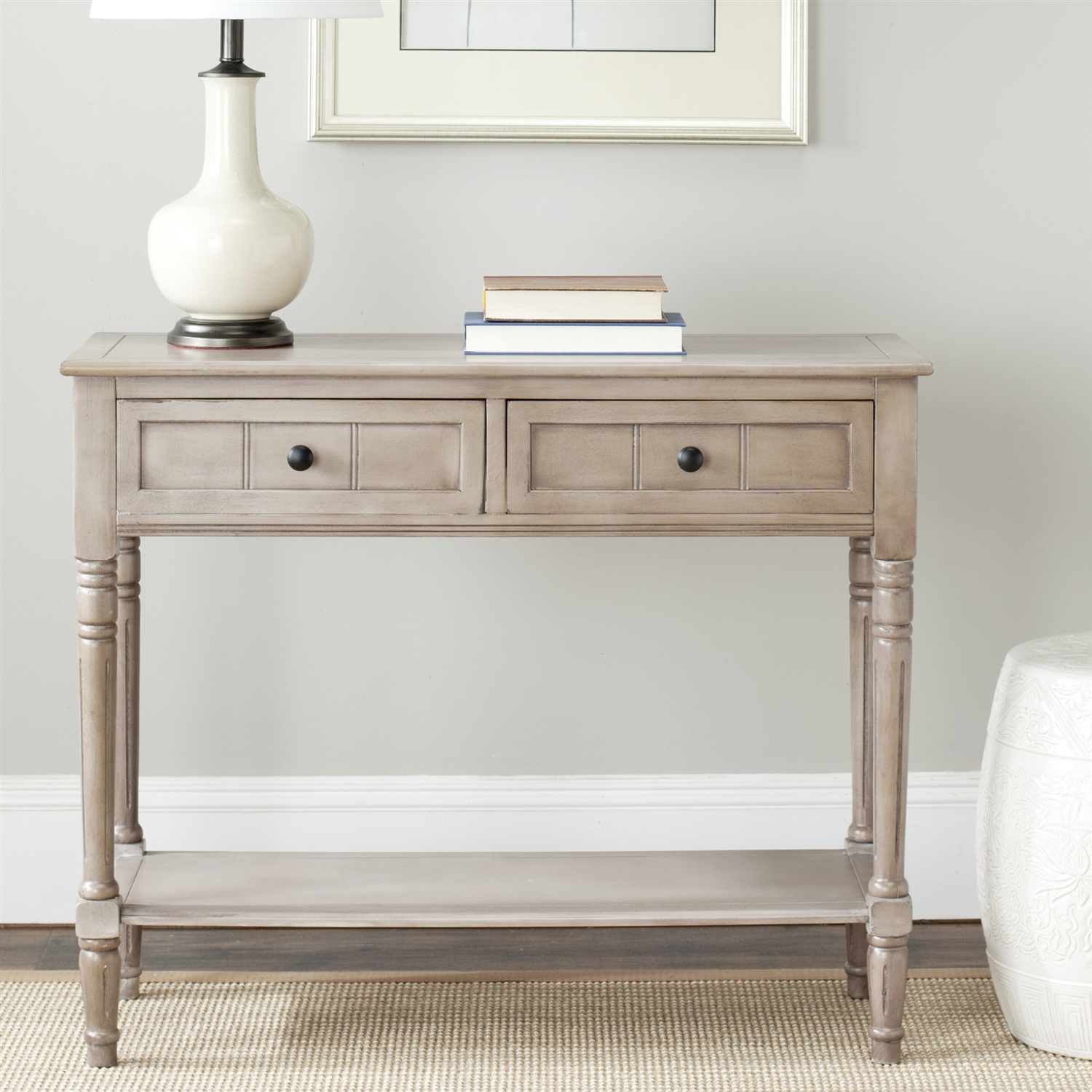 Console accent table traditional style sofa table in distressed retail price 26900 geotapseo Images