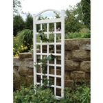 76-inch High Garden Trellis in White Vinyl - Made in USA